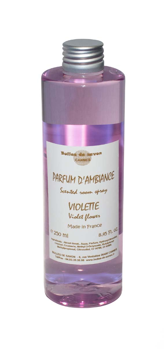 recharge parfum d 39 ambiance violette bulles de savon savonnerie artisanale cannes. Black Bedroom Furniture Sets. Home Design Ideas